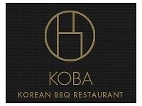 KOBA looking for full/part time waiting staff