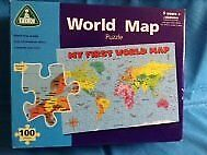 100 piece World Map Floor Puzzle – Early Learning Centre Age 5+ (boxed)