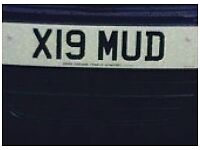 X19 MUD Number plates