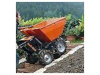motorised wheelbarrow, muck truck, wheelbarrow