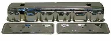 Chevy-Chrome-Steel-Straight-6-Valve-Cover-Side-Plate-194-230-250-Chevrolet-set
