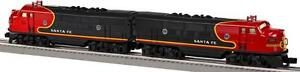Lionel Trains 6-38365 Archive Santa Fe Black Bonnet F3 A-A Diesel Set