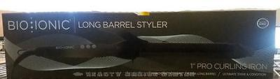 """Bio Ionic Long Barrel Styler 1"""" PRO Curling Iron for Long Hair Dual voltage"""