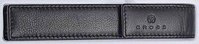 Cross Black Leather Pen Case / Pouch - Single Cross Single Pen Pouch