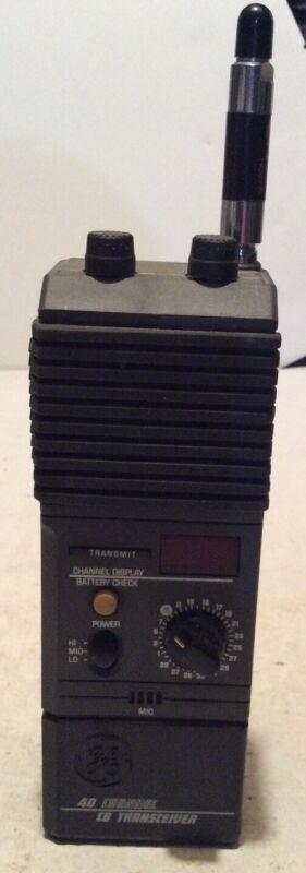 GE 3-5979A 40 Channel Handheld CB Transceiver General Electric Vintage