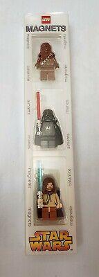 LEGO Star Wars Magnets - Chewbacca, Darth Vader & Obi Wan Kenobi