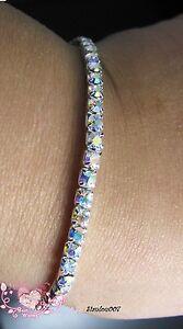 Aurora-Borealis-AB-Diamonte-Diamante-1-Row-Stretchy-Bracelet-BRAND-NEW
