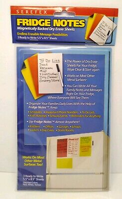 Magnetically Backed Dry Erase Sheets 5.5 X 8.5 Fridge Notes