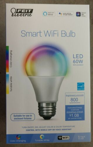 FEIT Electric Smart WiFi LED Color Changing and Dimmable A19