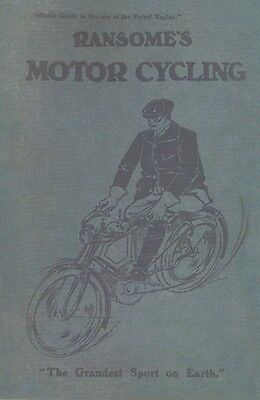 Vintage motorcycle Book Ransome's Motorcycling 1908 New Pioneer Motor Bicycle