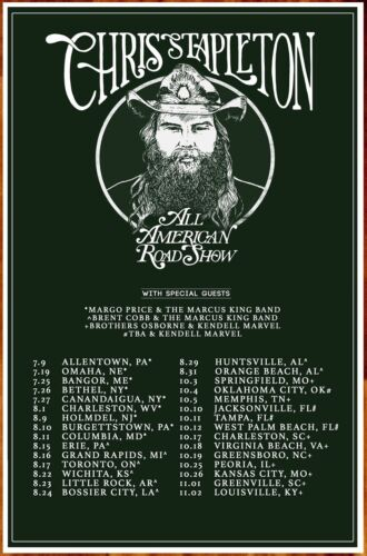 CHRIS STAPLETON All American Road Show 2019 Ltd Ed New RARE Tour Poster!