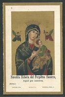 Estampa Antigua Virgen Del Perpetuo Socorro Andachtsbild Santino Holy Card -  - ebay.es