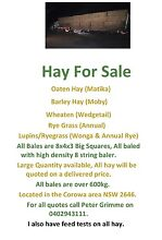 Hay for sale Rand Urana Area Preview