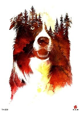 """US SELLER, forst dog 8.25"""" large arm temporary tattoo high quality fake tattoos"""