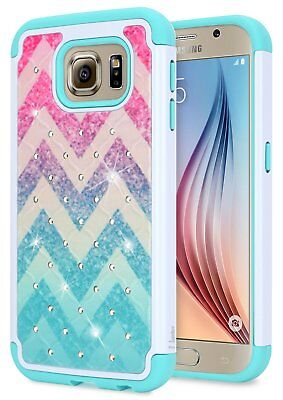 For Samsung Galaxy S6 S5 S4 Case | NageBee® Hybrid Bling Rubber Phone Cover