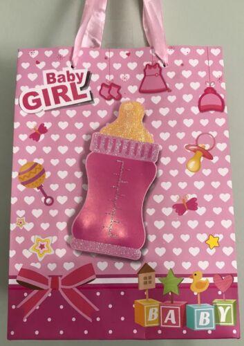 Pink Baby Girl Shower Party SWEET GIFT BAG 3D Bottle Birthda