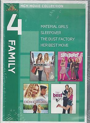 4 Family Mgm Movie Collection  Material Girls Hilary   Haylie  Duff New Dvd