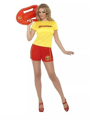 Ladies BAYWATCH size S 8 10 Costume LIFEGUARD Fancy Dress sniffs NEW -FREE POST