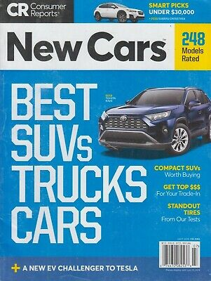 Consumer Reports July 2019 Best SUVs/Trucks/Cars Models