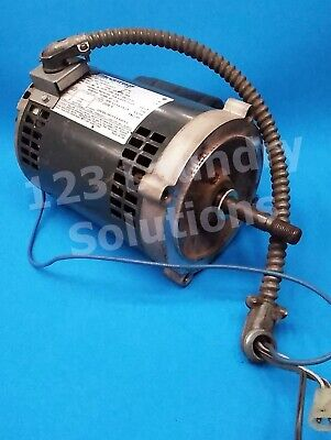 Double Stack Dryer Motor 14hp 1ph 60hz For Speed Queen Pn 703375-01 Used