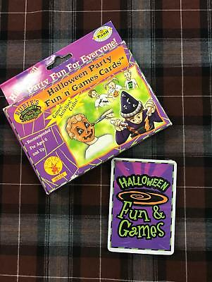 Rubie's Halloween Party Fun 'n' Games Cards Party Crafts Classroom Activity 138 - Fun Halloween Games