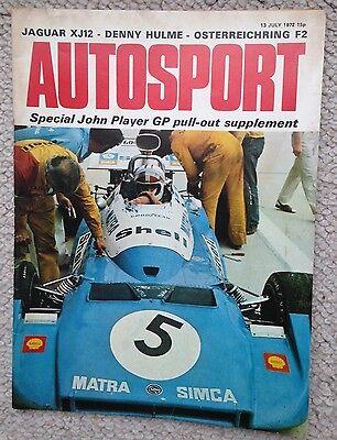 REDUCED Autosport Magazine  July 13th 1972 UK Mag