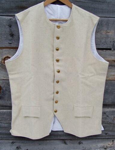 Revolutionary War Off White 100% Wool Vest 52