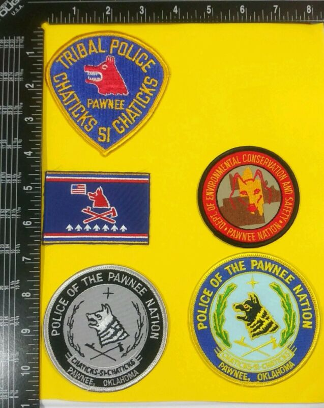 5- Police Of The Pawnee Nation Oklahoma Patches
