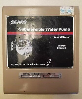 Sears 230v Submersible Pump Control Center Surge Protector Scp4300-01