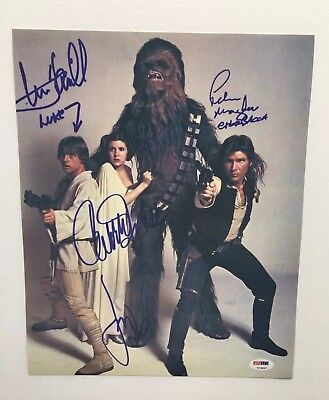 Reprint Star Wars Cast Signed 8x10 Photo
