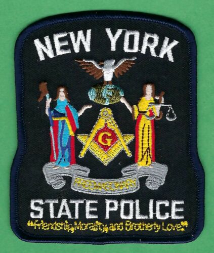 NEW YORK STATE POLICE MASONIC LODGE SHOULDER PATCH
