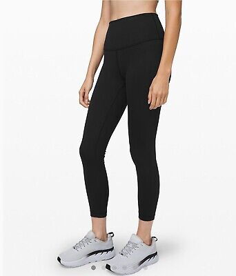 "Lululemon Wunder Under HR Fullon Lux 25"" SZ 2 BLACK *Brand New W Tags*"