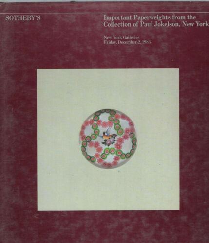 PAPERWEIGHTS SOTHEBYS 1983 JOKELSON Collection Kaziun Ysart Clichy Pantin Clichy