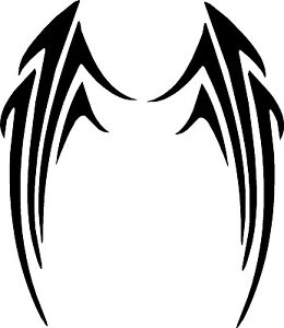 Tribal Motorcycle Graphics : Tribal-Wings-Motorcycle-Graphics-Vinyl-Decals-Stickers-19-x-8
