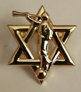 Star of David / Moroni Jewish Mormon Lapel Pin