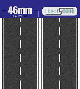 2x 1mtr 46mm Road to suit N Gauge (Hornby Skaledale etc. Self Adhesive Vinyl