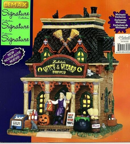 Lemax Spooky Town Zelda's Witch & Wizard Supply HALLOWEEN 35601 RETIRED NIB B35