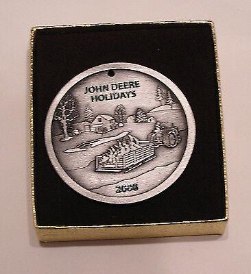 2008 John Deere Pewter Christmas Ornament