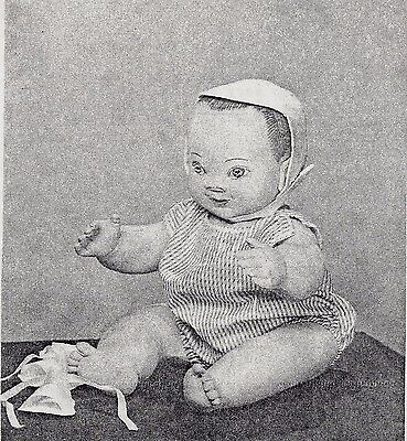 "20""CLOTH/SOFT SCULPTURE BABY BOY/TODDLER DOLL&ROMPER&HAT/CAP PATTERN"