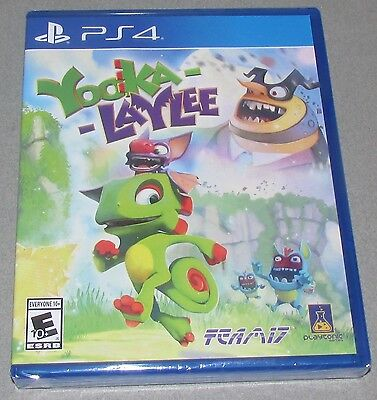 Yooka-Laylee for Playstation 4 Brand New! Factory Sealed!
