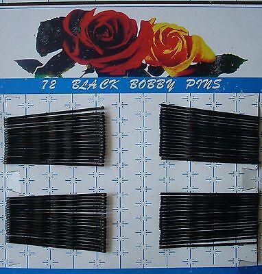 Haarklemmen - 72 Stück - Haarklammern - Haarnadeln - schwarz gewellt - 6 cm