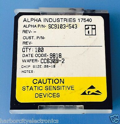 100x Sc9103-543 Alpha Industries Capacitor Chip Rf Microwave Product 100units