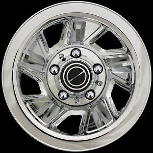 4-15-92-96-FORD-F150-BRONCO-CHROME-Wheel-Skins-Hub-Caps-Rim-Covers-FREE-SHIP