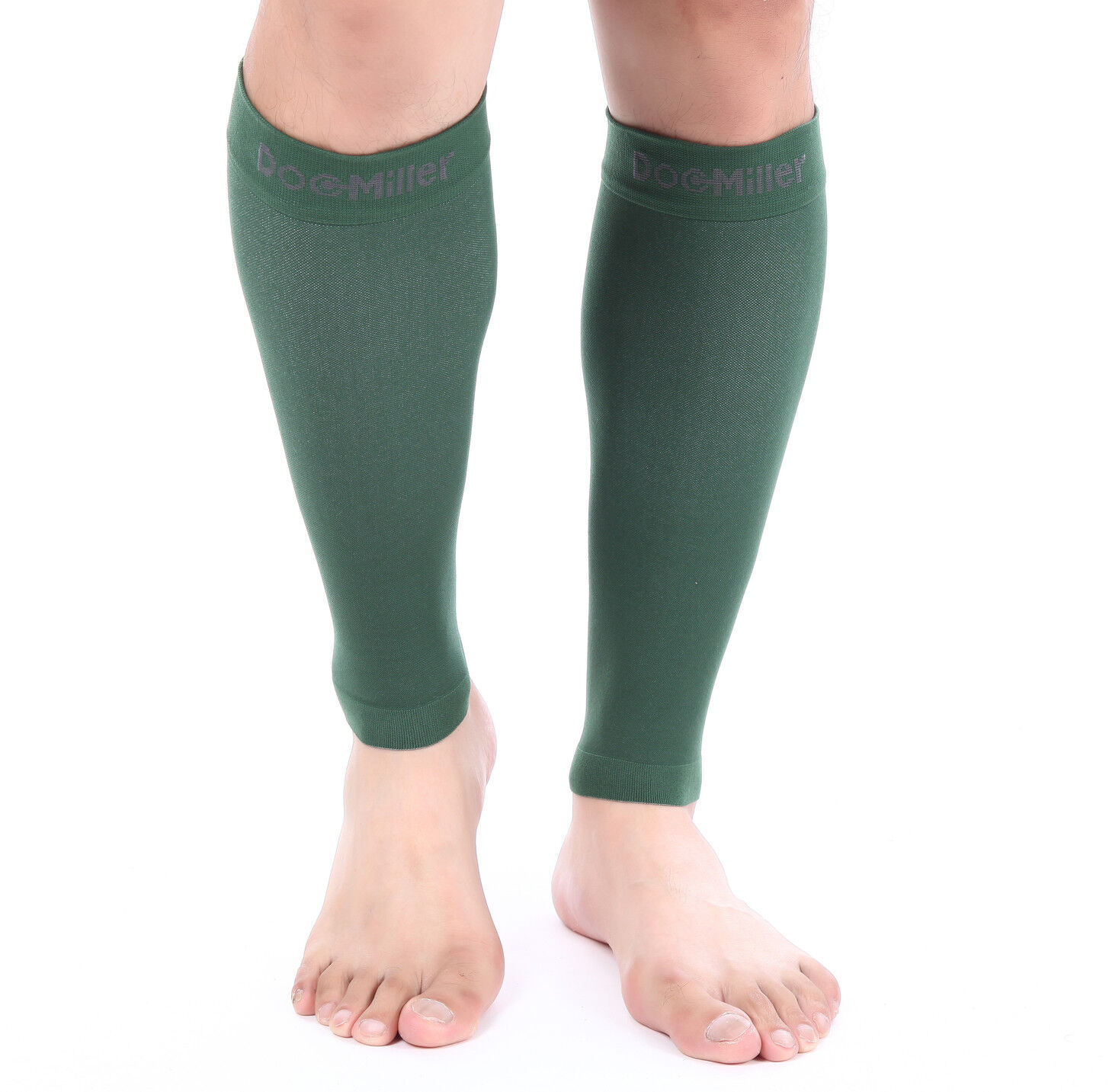 a56707456f Doc Miller Calf Compression Sleeve 1 Pair 20-30mmHg Recovery Varicose Veins  DARK GREEN