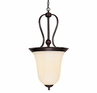 Savoy House 7-6920-3-13 Pendant with Cream Opal Etched Shades, English Bronze  ()