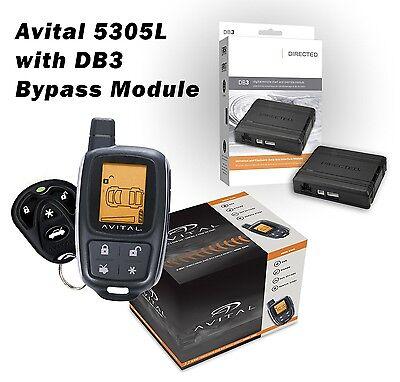 Avital 5305L Alarm & Remote Starter + DB3 Bypass Module Package 1500 Ft LCD Dei Remote-starter