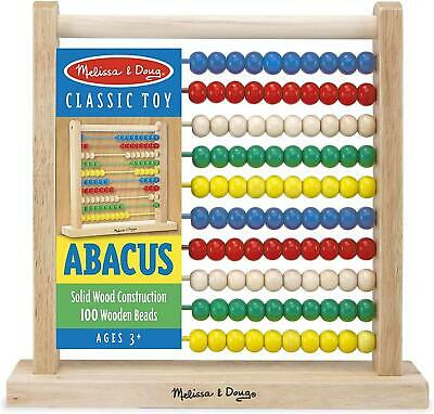 Wooden Abacus Classic Kids Toy Solid Wood Counting 100 Beads Educational Gift