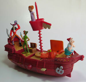 LOOSE SET 6 McDonald's 2002 PETER PAN Pirate Ship Return Neverland DISNEY Cubby