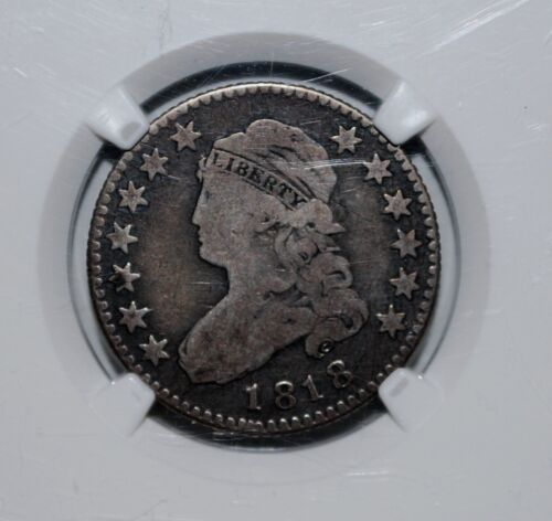 1818 Capped Bust Quarter 25C   NGC   VG8        early large sized