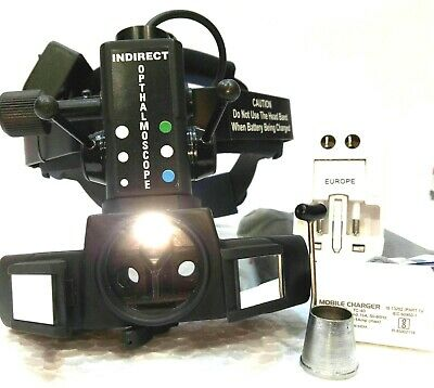 Binocular Rechargeable Indirect Ophthalmoscope With Accessories Case